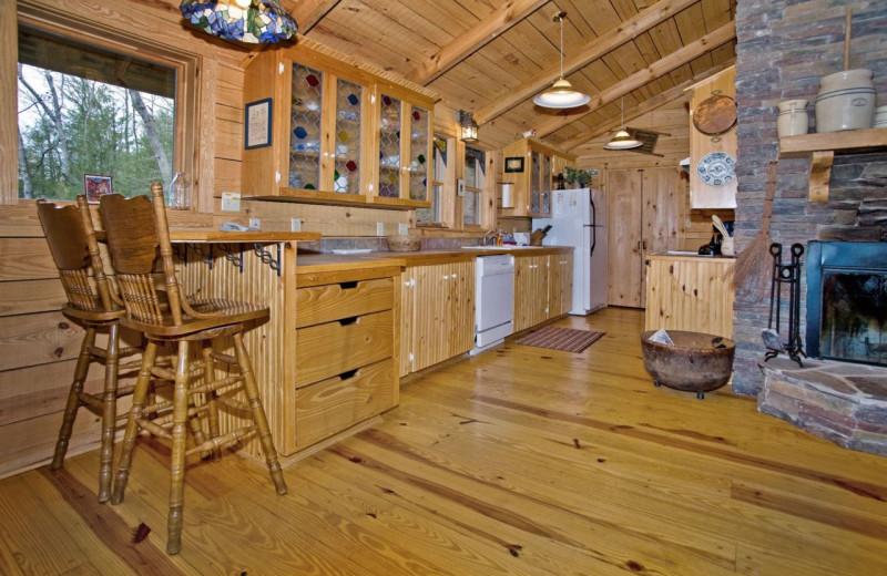 Rental kitchen at Dogwood Cabins LLC.