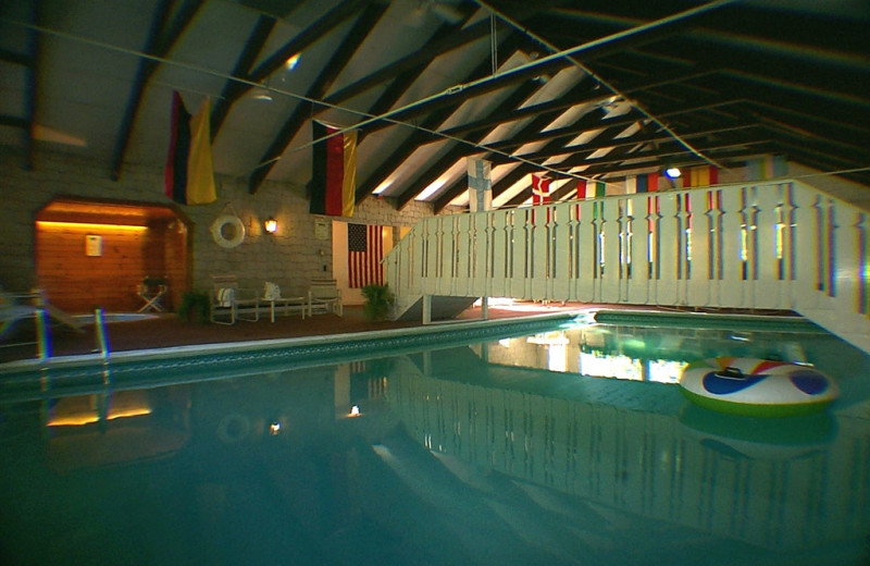 Indoor pool at Northern Lights Lodge.