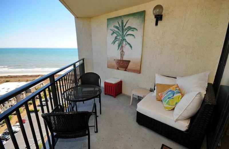 Rental balcony at MyrtleBeachVacationRentals.com.