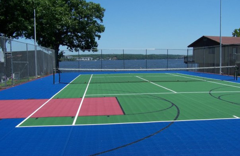 Tennis courts at Lakeview Resort.