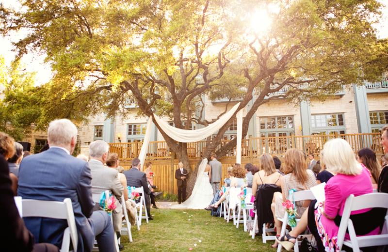 Wedding ceremony at Hyatt Regency Hill Country Resort and Spa.