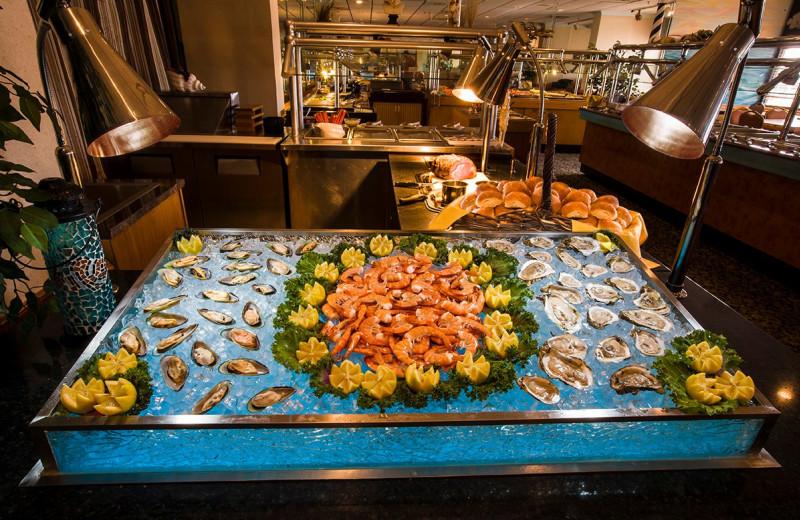 Seafood buffet at The Oceanfront Inn.