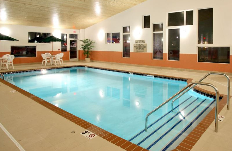 Indoor pool at Perham Crossings.