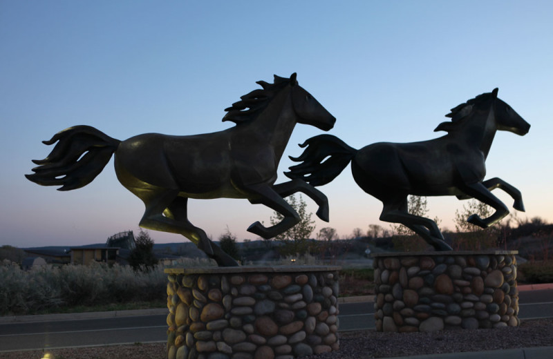 Sculptures at Sky Ute Casino Resort.