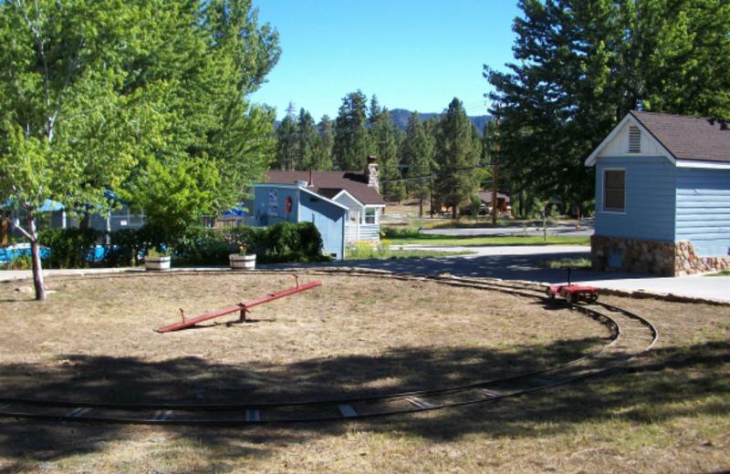 Children's train at Blue Horizon Lodge.