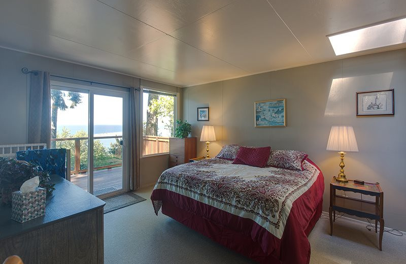 Rental bedroom at Sequim Valley Properties.
