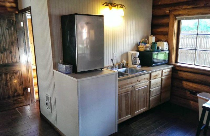 Cabin cabinets at Gwin's Lodge & Kenai Peninsula Charter Booking Service.