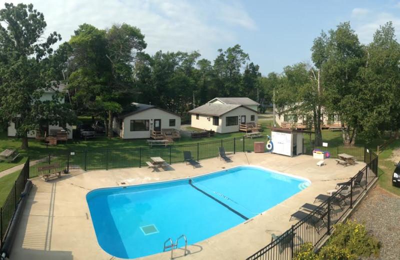 Outdoor heated pool at Ballard's Resort.