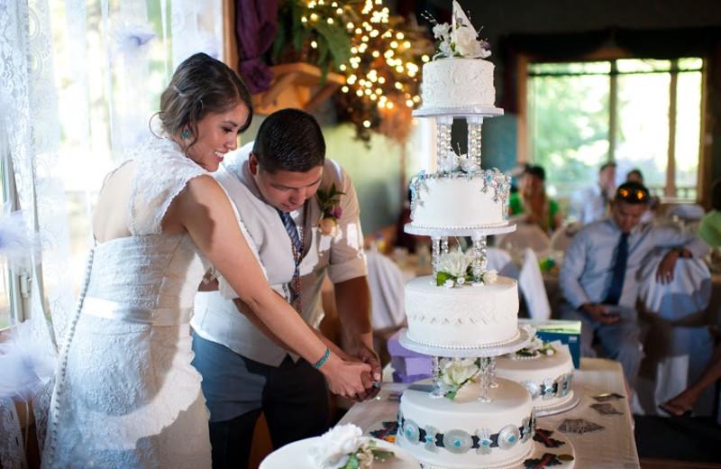 Wedding reception at Echo Basin Cabin And RV Resort.