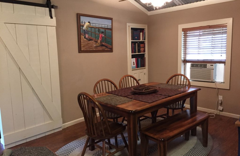 Dining room at The Secret Cabin.