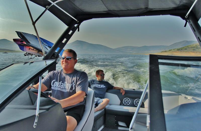 Boating at Park City Rental Properties.