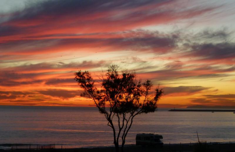 Sunset at Capistrano Surfside Inn.