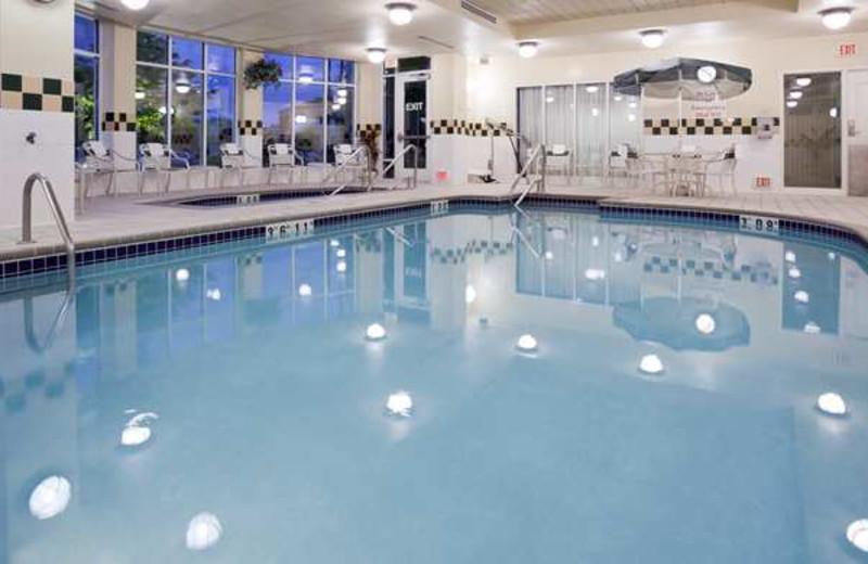 Indoor pool at Hilton Garden Inn Bloomington.