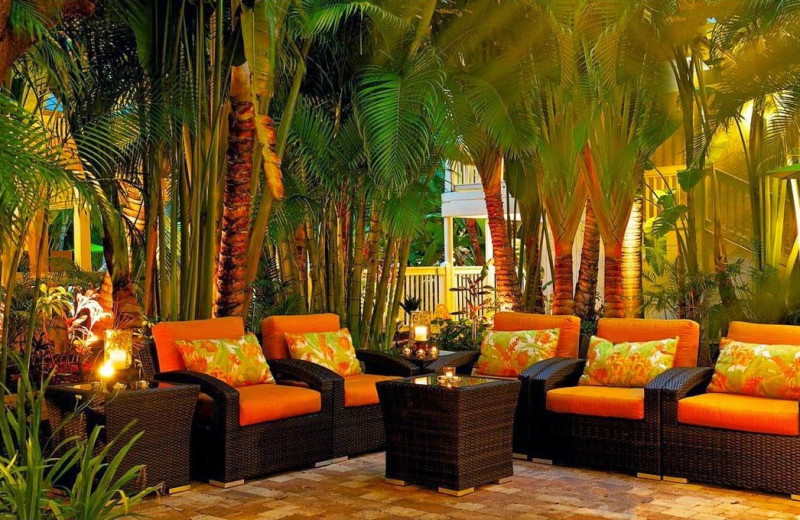 Patio at The Inn at Key West.