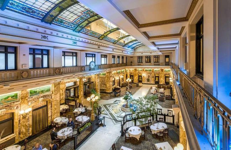 Lobby at Radisson Lackawanna Station Hotel Scranton.