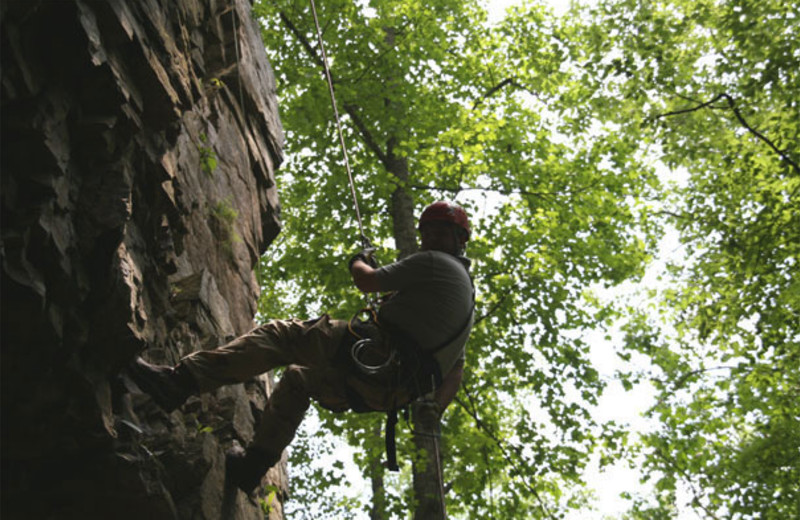 Rock climbing at The Shady House Lodge and Retreat Center.