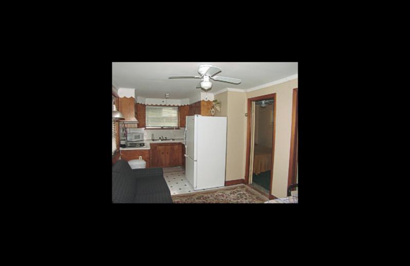 Cabin interior at Cool Ledge Family Resort.