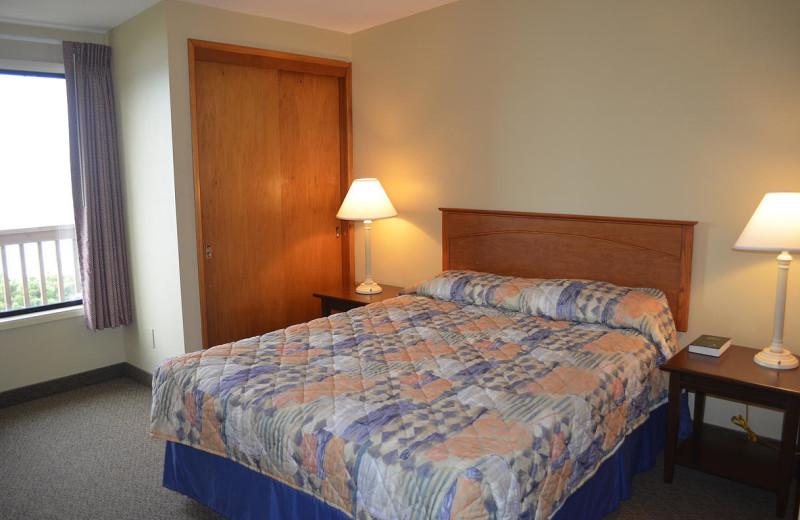 Beach house bedroom at Surfrider Resort.