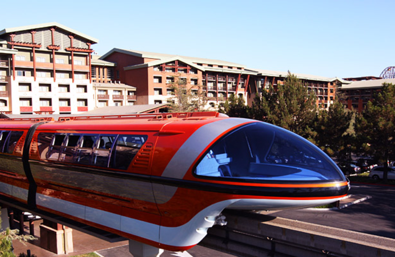 Monorail at Disneyland Resort.