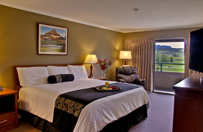 Guest room at Fairmont Hot Springs Resort.