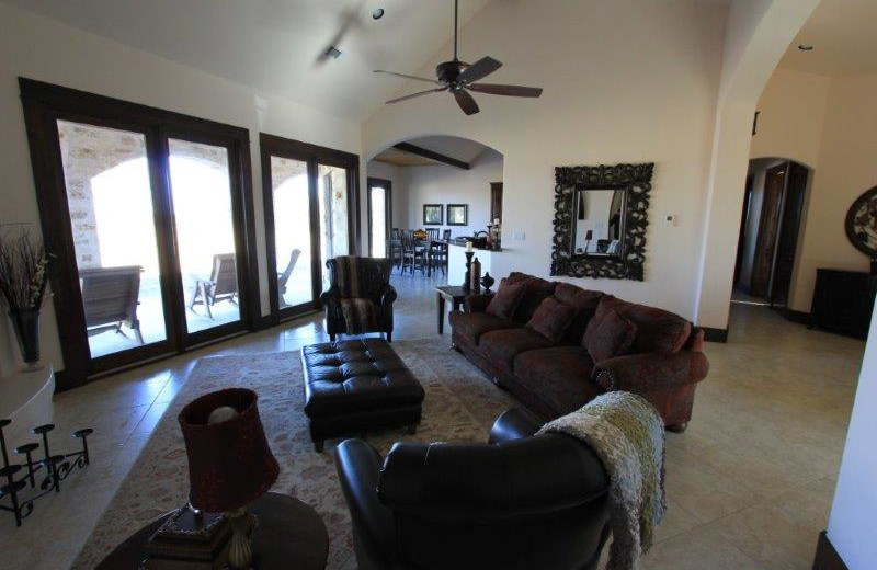 Rental living room at The Vineyard at Florence.