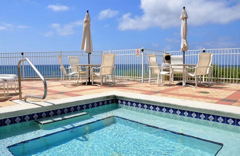 Outdoor pool at Royal Beach Rentals.