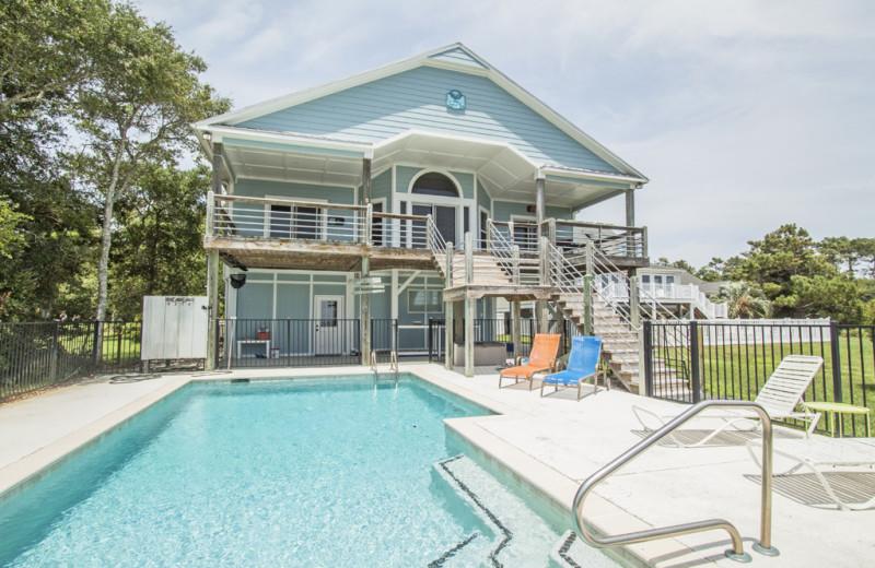 Rental pool at Oak Island Accomodations.