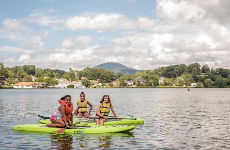 Youth enjoy paddle boarding, kayaking and canoeing at Lake Junaluska Conference and Retreat Center.
