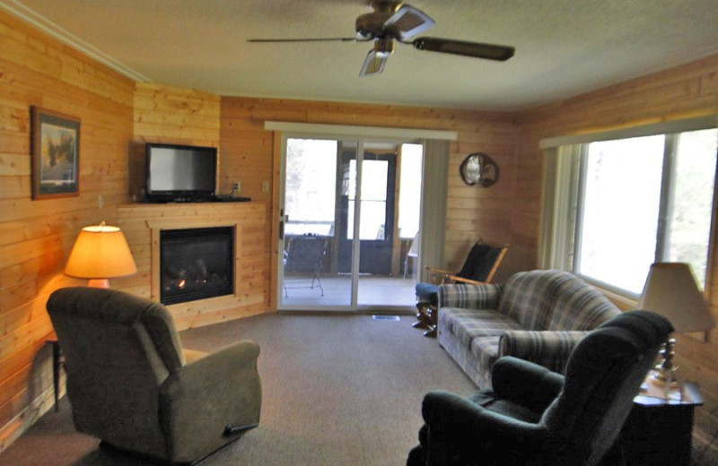 Cabin living at Becker's Resort & Campground.