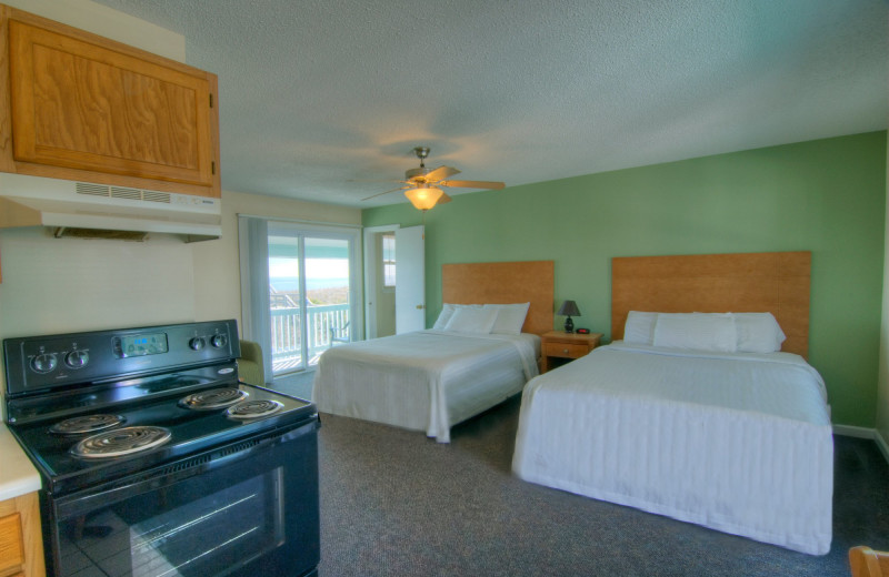 Guest room at Surfside Lodge Oceanfront.