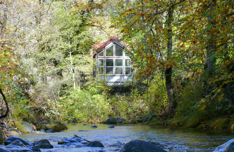 Cabin at Morrison's Rogue River Lodge.