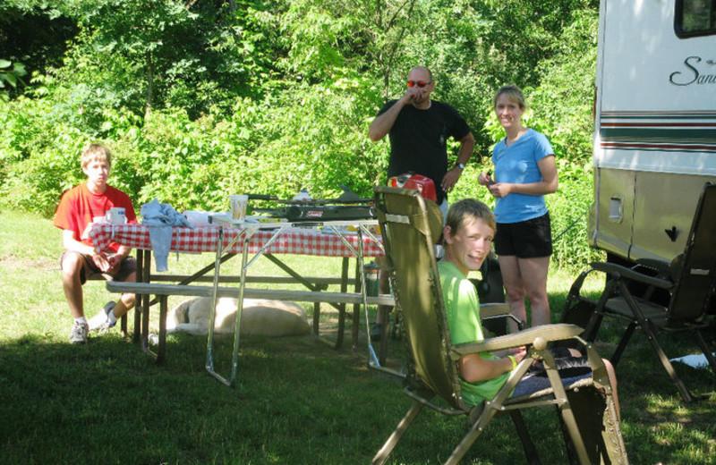Family Camping at Smokey Hollow Campground