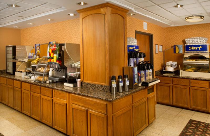 Complimentary breakfast bar at Holiday Inn Express San Antonio.
