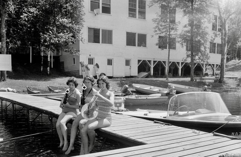 Resort history at Hanging Horn Lakeside Resort.