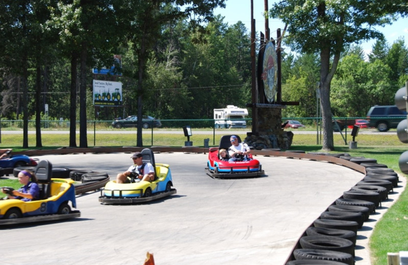 Go carts near Quarterdeck Resort.