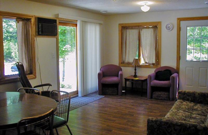 Cabin interior at SweetWater Resort.