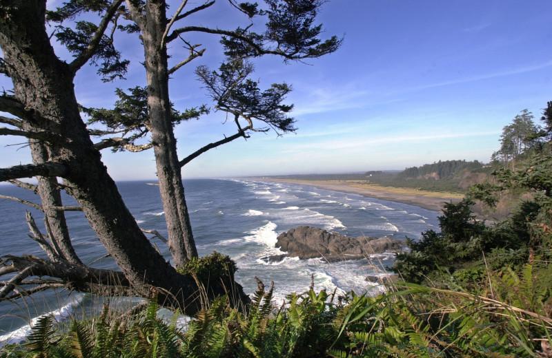 Beach at Oceanfront Getaways.