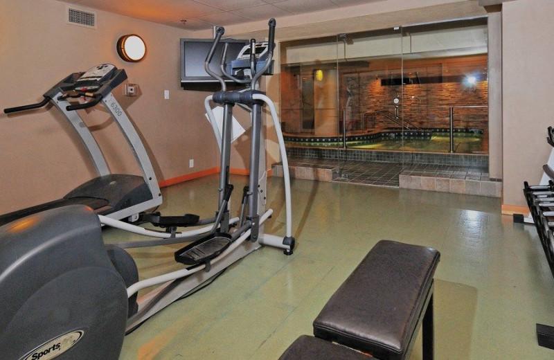 Fitness room at Banff Caribou Lodge & Spa.