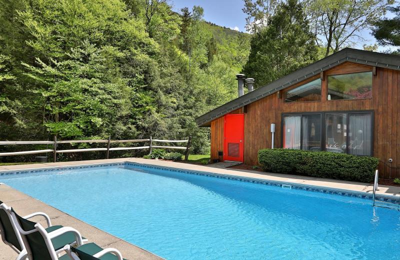 Rental outdoor pool at Killington Rental Associates.