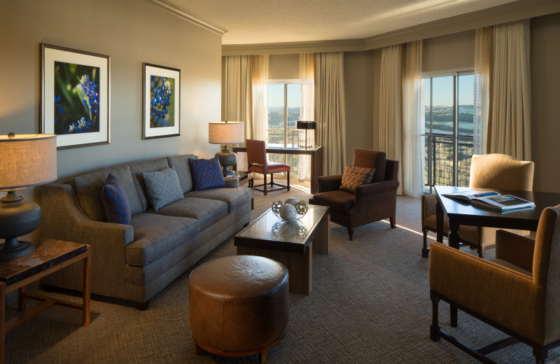 Guest living room at La Cantera Resort & Spa.