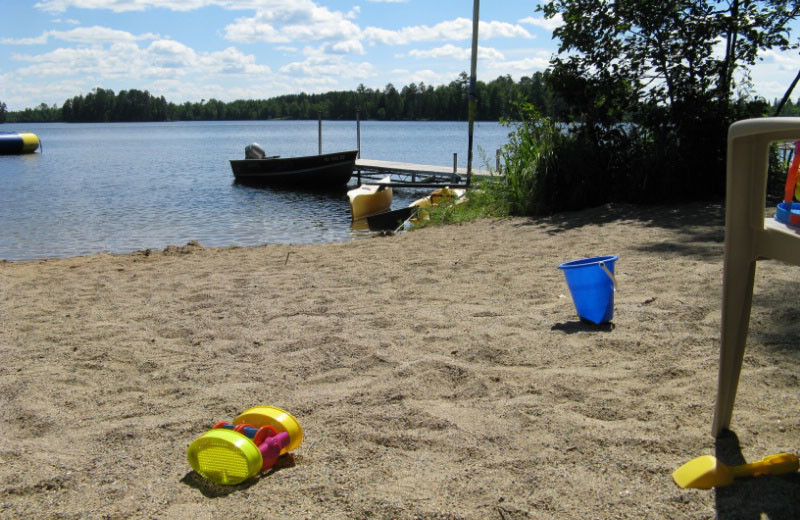 The beach at Loon Point Resort.
