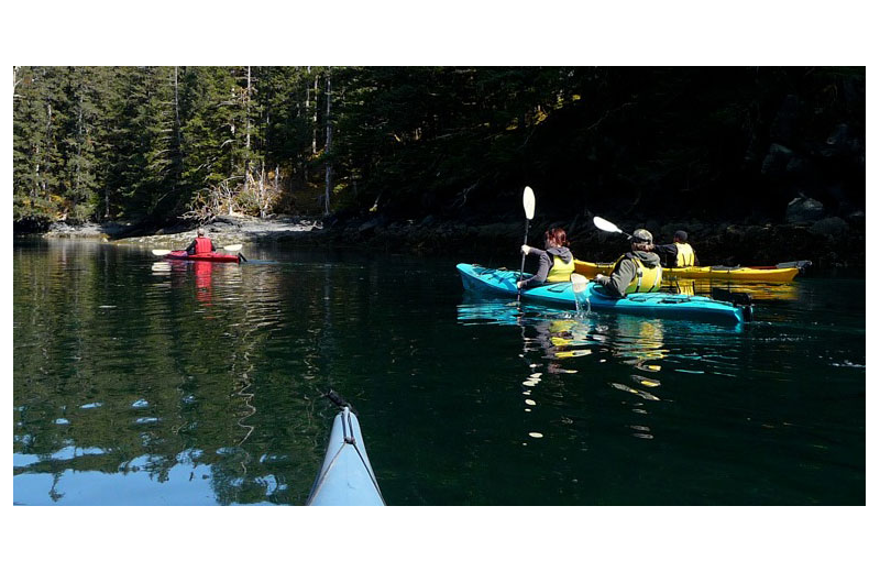 Kayaking at Afognak Wilderness Lodge.
