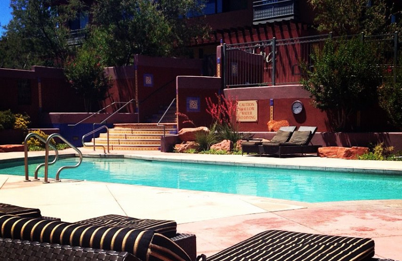 Outdoor pool at Sedona Rouge Hotel.