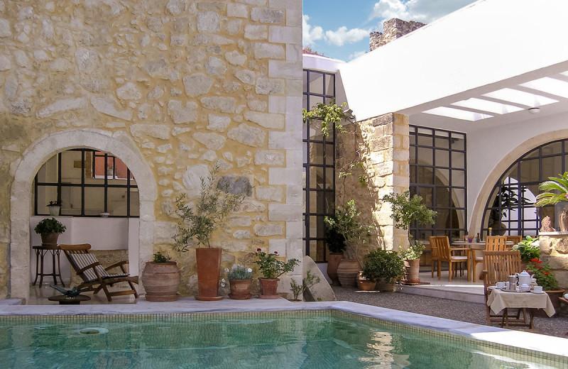 Outdoor pool at Villa Maroulas.