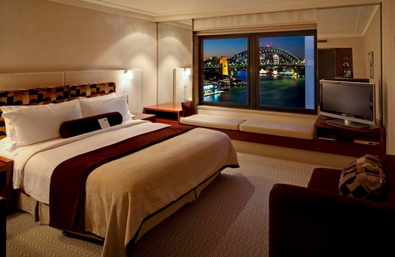 Guest room at Inter-Continental Sydney.