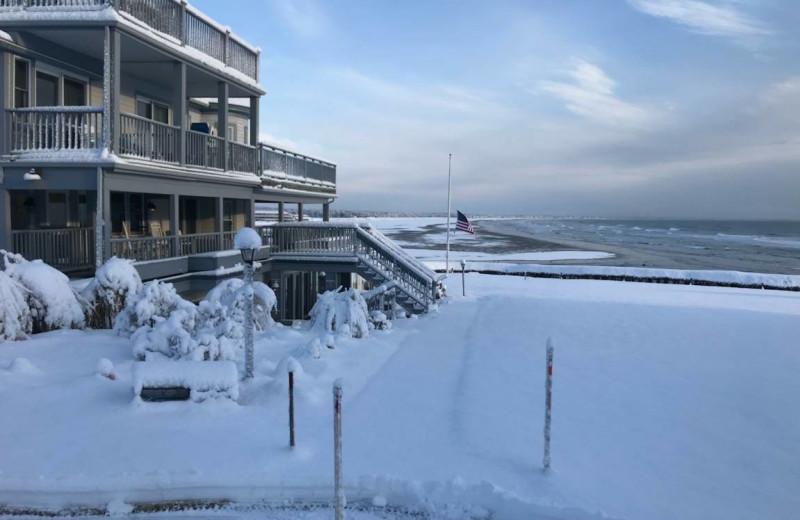 Winter at Beachmere Inn.