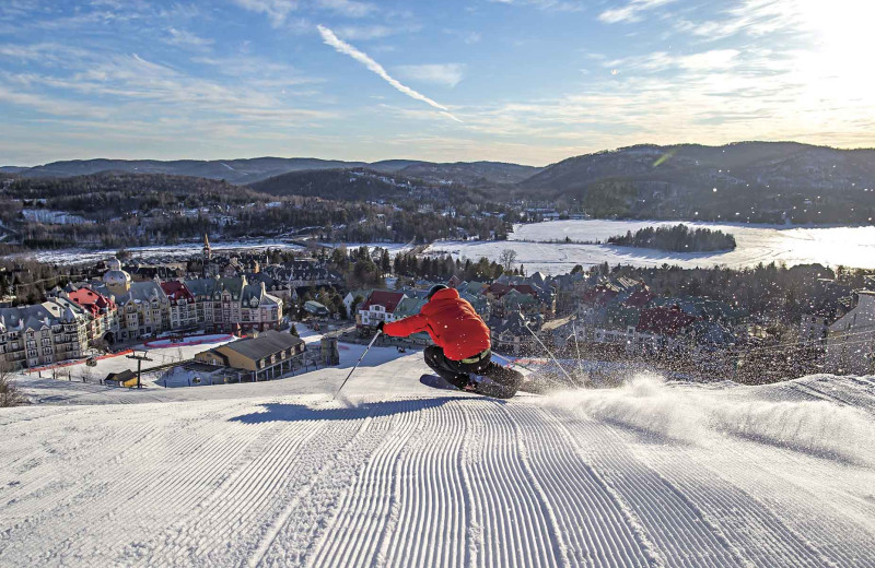 Skiing at Fairmont Tremblant Resort.