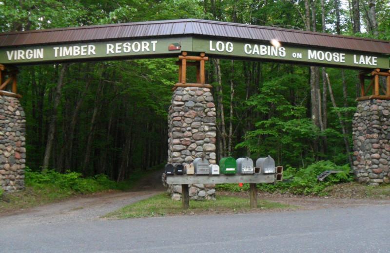 Entrance at Virgin Timber Resort.