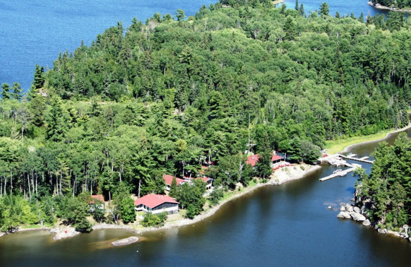 Aerial View of Crow Rock Lodge