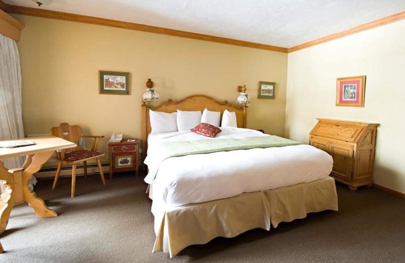 Guest room at Alpenhof Lodge.